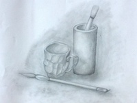 graphite drawing practice