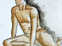 Human life drawing practice #6