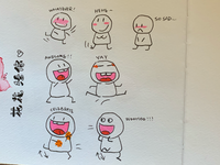 Cartoon doodle practice