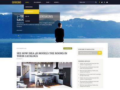 Tech news web design
