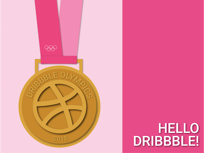 Hello Dribbble! winter pyeongchang gold medal debut olympics