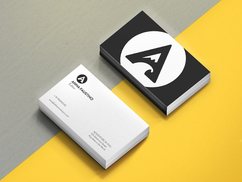 Adventure In You Cards lettering icon print graphics marketing branding wave mountain logo travel business card stationary