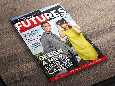 Postgraduate Futures magazine cover university students print marketing magazine logo graphics cover branding australia