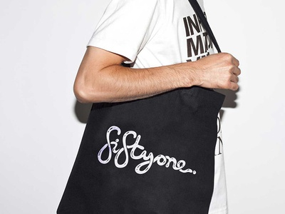 fiftyone art gallery bags typography sydney print marketing icon graphics event collection australia art