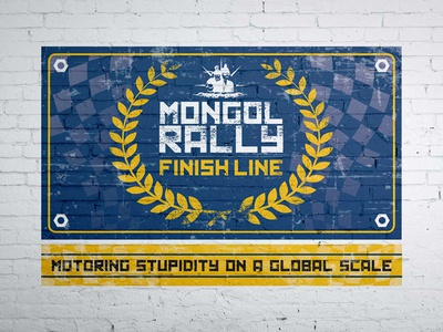 Mongol Rally 2017 Finish Line Banner rally travel typography print photoshop marketing illustrator graphics design branding