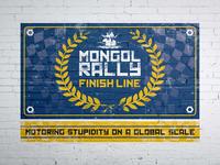 Mongol Rally 2017 Finish Line Banner