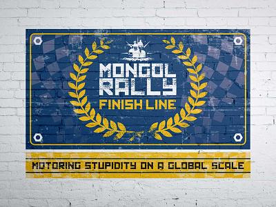 Mongol Rally 2017 Finish Line Banner rally travel typography print photoshop marketing illustrator graphics design branding