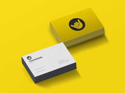 Get Stoked business cards travel app marketing graphic design business card branding logo art
