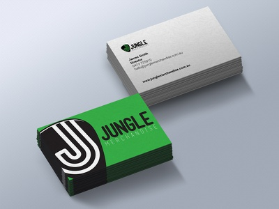 Jungle Merchandise Business Card branding designer font free graphics logo print sign music merch
