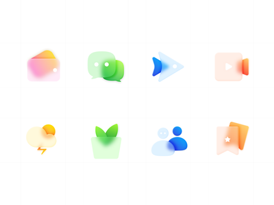 frosted glass icons 2x icons frosted glass ui color