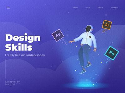 design skill design people color ui web illustration