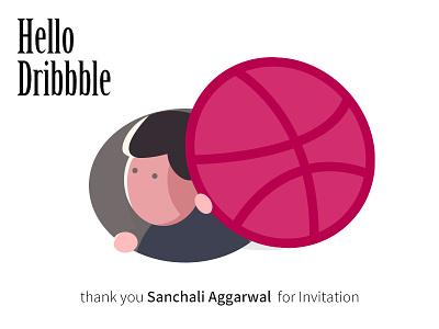 Hello Dribble~ shot first dribbble invite