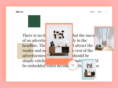 Interior style landing page