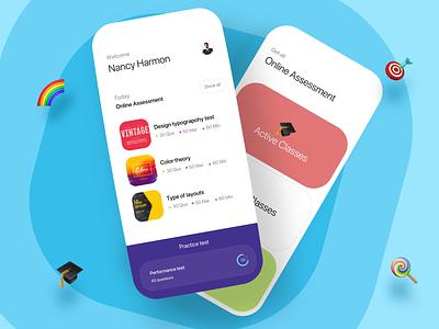 Online classes minimal clean ux ui concept page online online classes education learning list colors progress design product