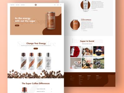 Super coffee landing page