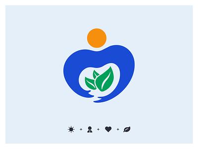 健康管理师标志 healthcare health logo icon logo illustration