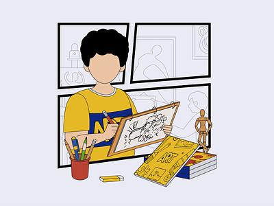 The painter 01 design ui illustration