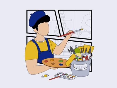 The painter 02 design ui illustration