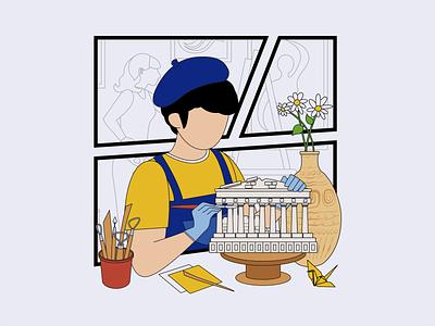 The painter 03 design ui illustration