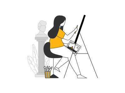 The painter design ui illustration
