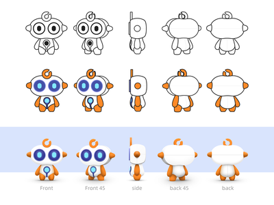 Robot - Afu design ui illustration
