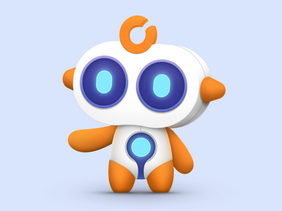 Afu please~ robot ui design illustration