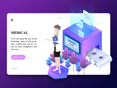 Medical illumination web medical illustration design community colour