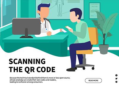 Scanning the QR code design web ui illustration