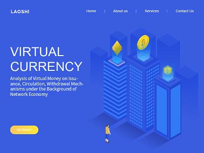Virtual  currency icon design web ui illustration