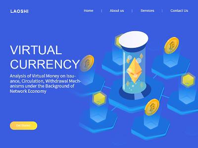 Virtual  currency 2 icon design web ui illustration