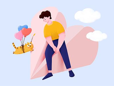 If I could fly colour design illustration ui