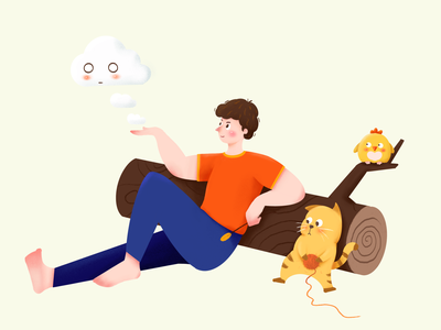 Have a rest colour illustraction ui web illustration