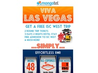 Email for a Telephony Comapny offering a Trip to Vegas