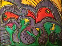 Abstract Fish Bird Eye
