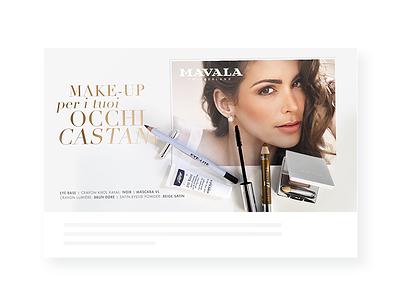 Mavala Social Campaign artdirection post digital makeup facebook social mavala