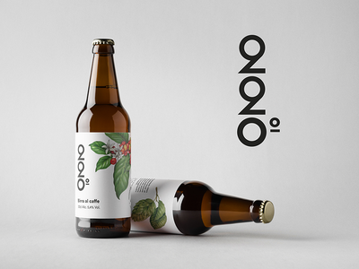 220° Coffee Beer coffee beer mokasirs bottle label minimal 220 mockup alcohol