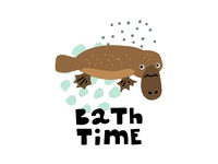 Bath Time quote and illustration