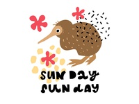 Sun Day Fun Day Quote with Illustration