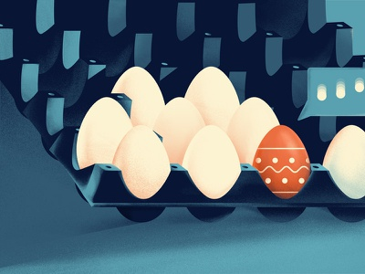 Easter marketing ideas logo branding 2d character flat noise animation marketing site easter easter eggs ideas marketing illustration