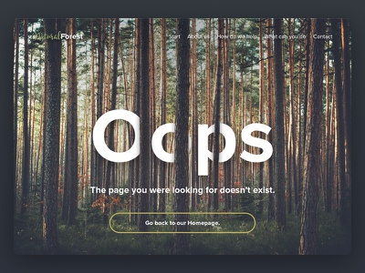 Daily UI 008 - 404 Page not found error 404page 008 green nature daily dailyui page ui 404 forest