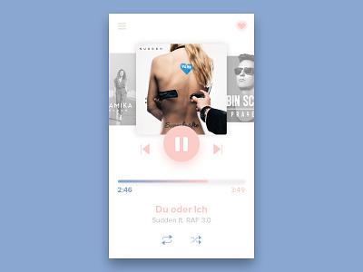 Daily UI 009 - Music Player musik play ui rosa dailyui daily pantone blue 009 musicplayer player music