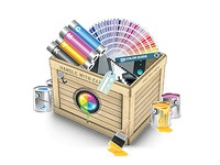 Box with web design resources - Ultimate Designer Toolkit