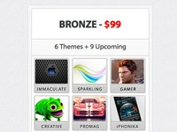 Different price table for wordpress themes