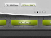 3D Portfolio Layout - PSD File