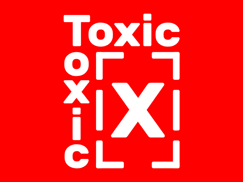 Toxic adobe illustrator cc adobe illustrator adobe brand identity branding visual design red photoshop illustrator poster design logo design graphic design brutalism brutalist experimental logo