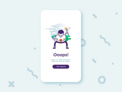 No internet connection by Marish - Dribbble