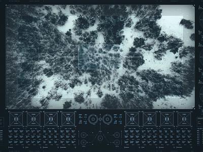 kold.ravn.S design scifi satelite drone navigation userinterface futuristic technology fui data interface ui