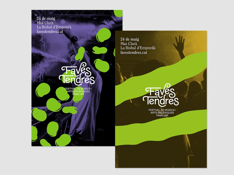 Faves Tendres typography logo art design graphic  design branding