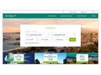 Aer Lingus Above the fold landing page redesign