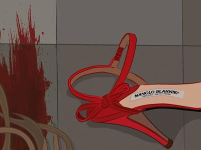Murder in a toilet murder toilet shoes